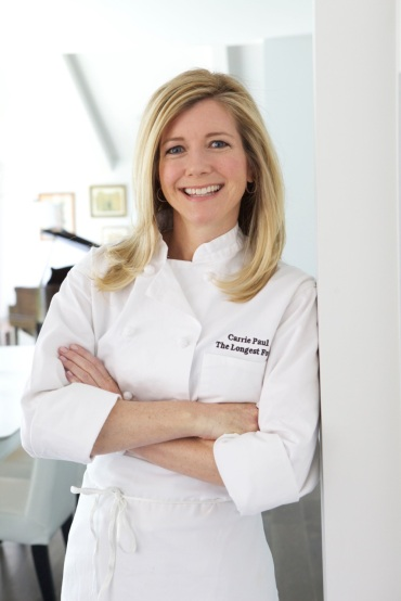 chef carrie head shot door frame leaning very closeup