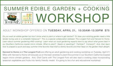 Edible garden and cooking workshop 2015