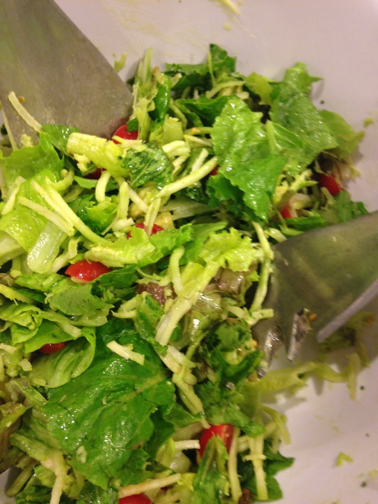 Bib lettuce with avocado dressing